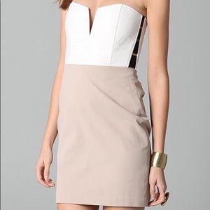 Mason Michelle Strapless short white dress small